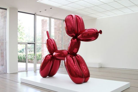 Outdoor decor jeff koons giant balloon animal dog art metal